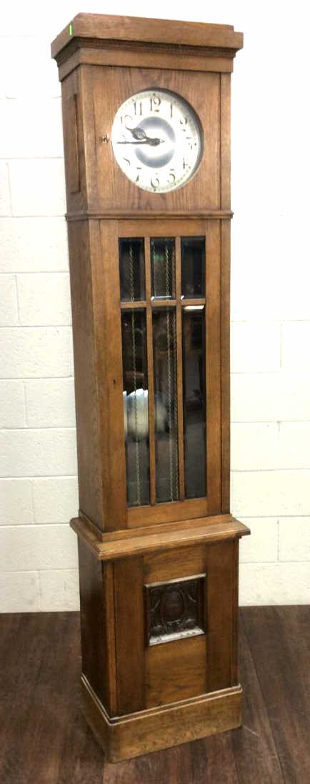 19th C. Oak Wood Grandfather Clock