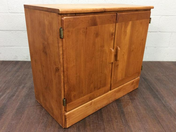 Rods Contemporary Wood Cabinet