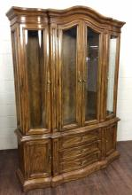 Drexel Traditional Oak Wood China Cabinet