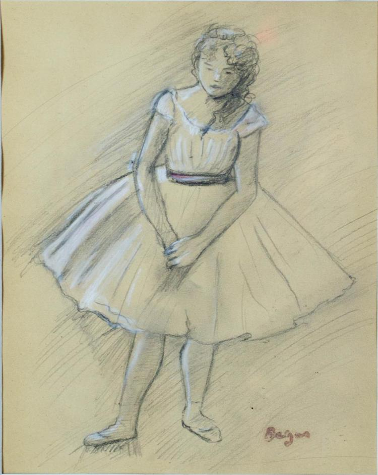 Edgar Degas (1834-1917) Ballerina Drawing
