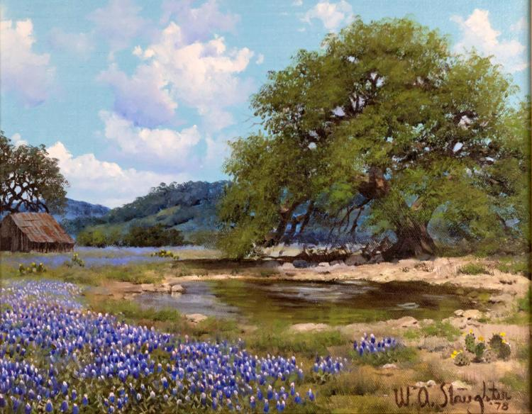 Signed William Slaughter 1923 2003 Oil Painting