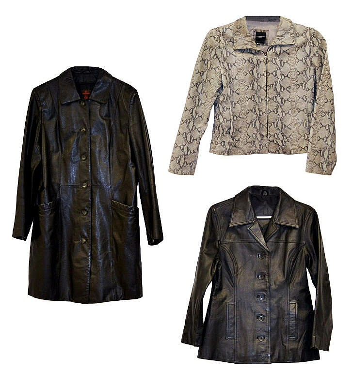3 Ladies leather coats. Danier, Colebrook, J Ferra