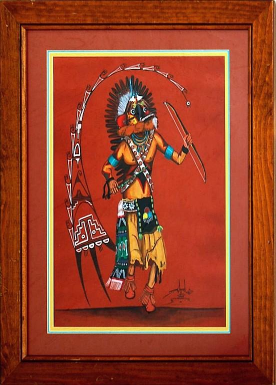 Hopi Dalton Namoki Kachina Painting c.1985