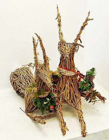 Lot of 3 Festive Reindeers
