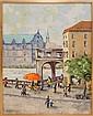 M. Konakchiysky Oil Painting, Street Scene