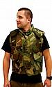Camouflage Flak Jacket, Size Large