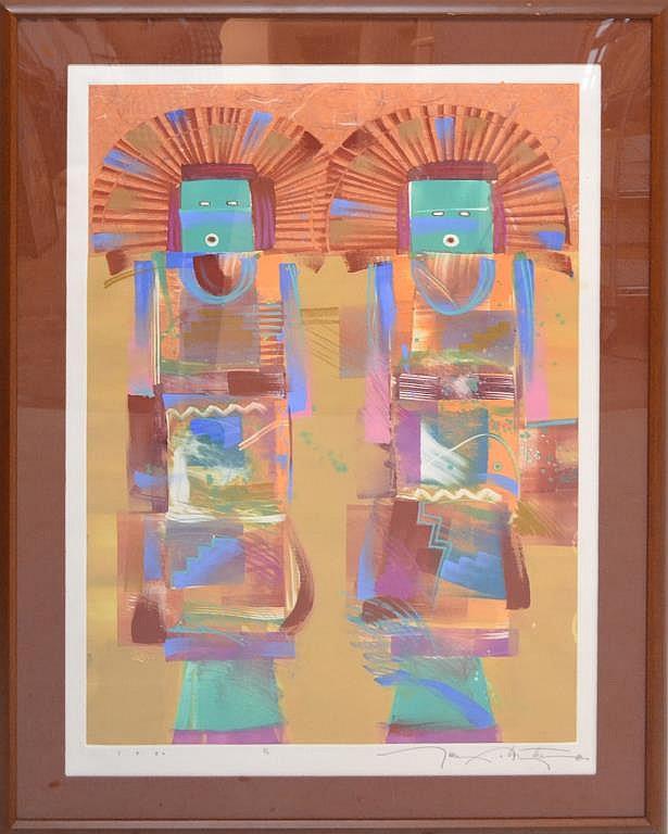Tony Abeyta (1965 - ) Framed Painting On Paper