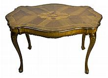Small Vintage Louis the XV Style Inlaid Table