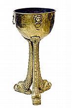 Dutch Style Brass Bucket w/ Dolphin Feet