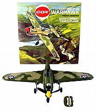 Cox Curtiss P-40 Warhawk Gas Engine Tether Plane