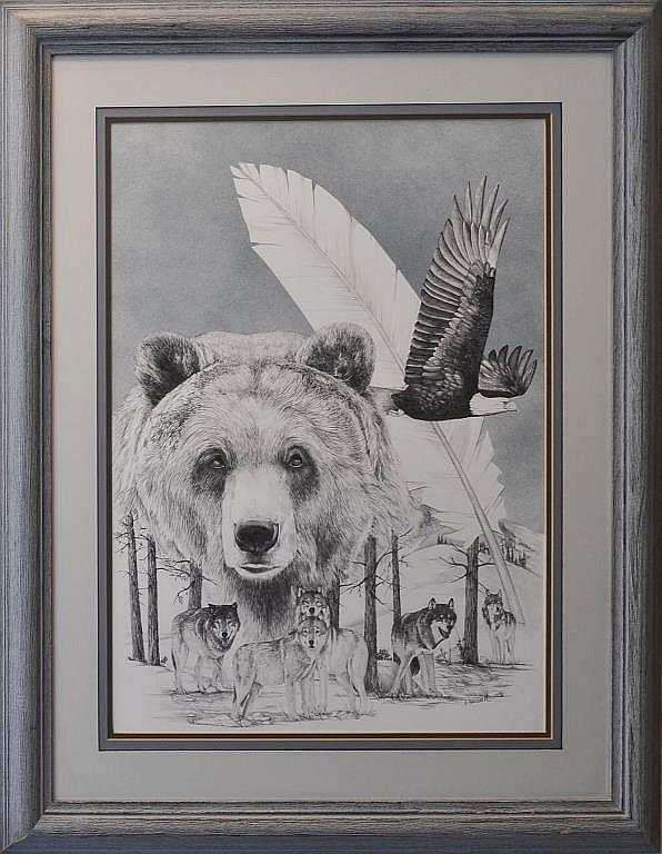 Dick Bramwell (20th/21st C.) Pencil Drawing