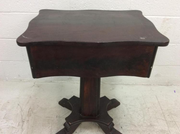 20th C. Wood Pedestal Accent Table