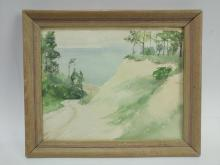 Edgarda Williams Cole Lake Forrest Watercolor on P