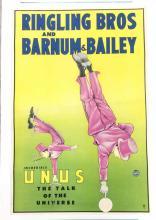 Ringling Bros & Barnum & Lithograph Poster