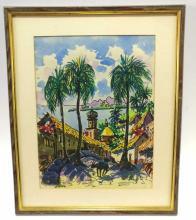 Signed Puerto Vallarta Watercolor on Paper