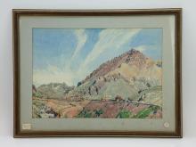 Rene Clark Landscape De Le Loca Watercolor on Pape