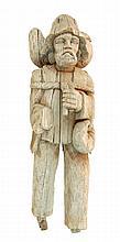Carved Wooden Sailor Sculpture