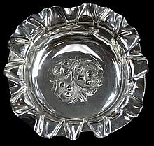 Pairpoint Silver Plate Ruffled Edge Fruit Bowl