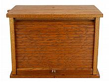 1907 Oak Tambour Door Typewriter Cabinet