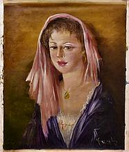 #20 Violetta de Koszeghy Oil on Canvas Painting