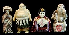 (4) Pcs. Japanese Carved Ivory Figure Lot #1
