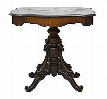 Victorian Turtle Table with Slate Top