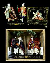 3 Pcs. Japanese Traditional Gofun Face Dolls