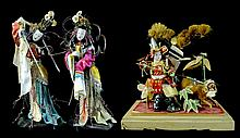 3 Pcs. Vintage Japanese Dolls / Samurai