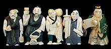 (5) Pcs. Japanese Carved Ivory Netsuke Lot