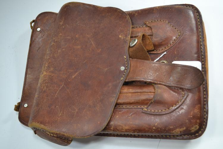Antique Leather Messenger Bag