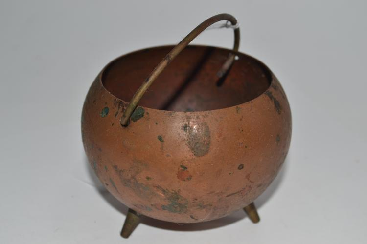Vintage Miniature Copper Cauldron