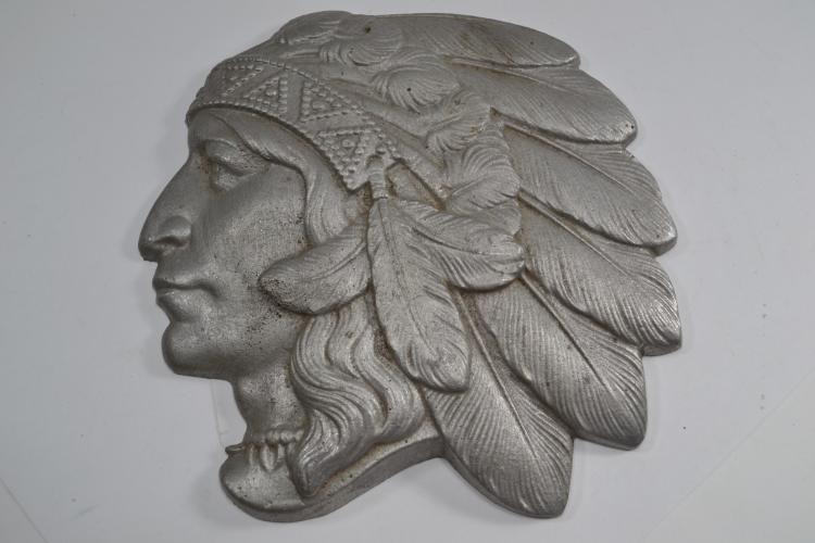 Vintage Cast Aluminum Indian Chief Bust