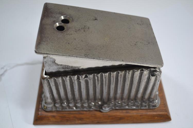Antique Nickel Plated Desktop Cigarette Cigar Cutter