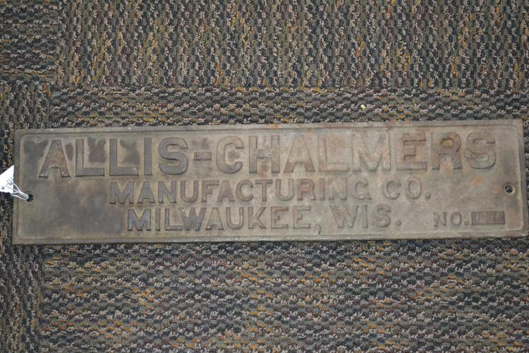 Antique Cast Iron Allis Chalmers Dealer Sign