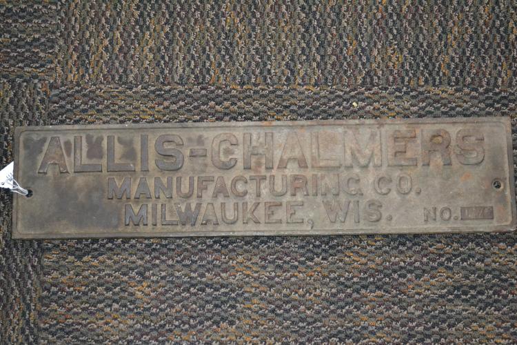 Antique Cast Iron Allis Chalmers Dealer Sign