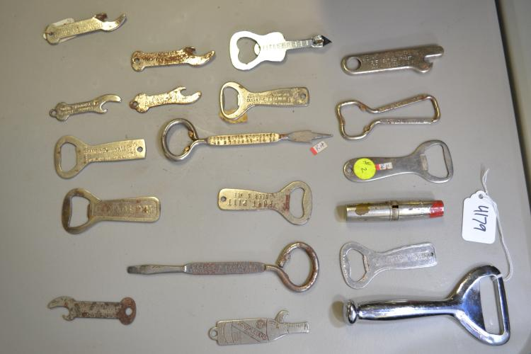 Lot Of 19 Vintage Advertising Bottle Openers