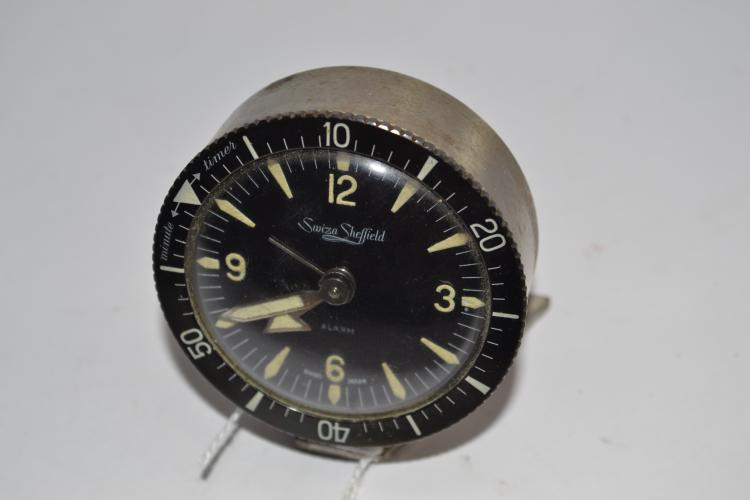 Vintage Swiza Sheffield Mechanical Wind Desk Clock