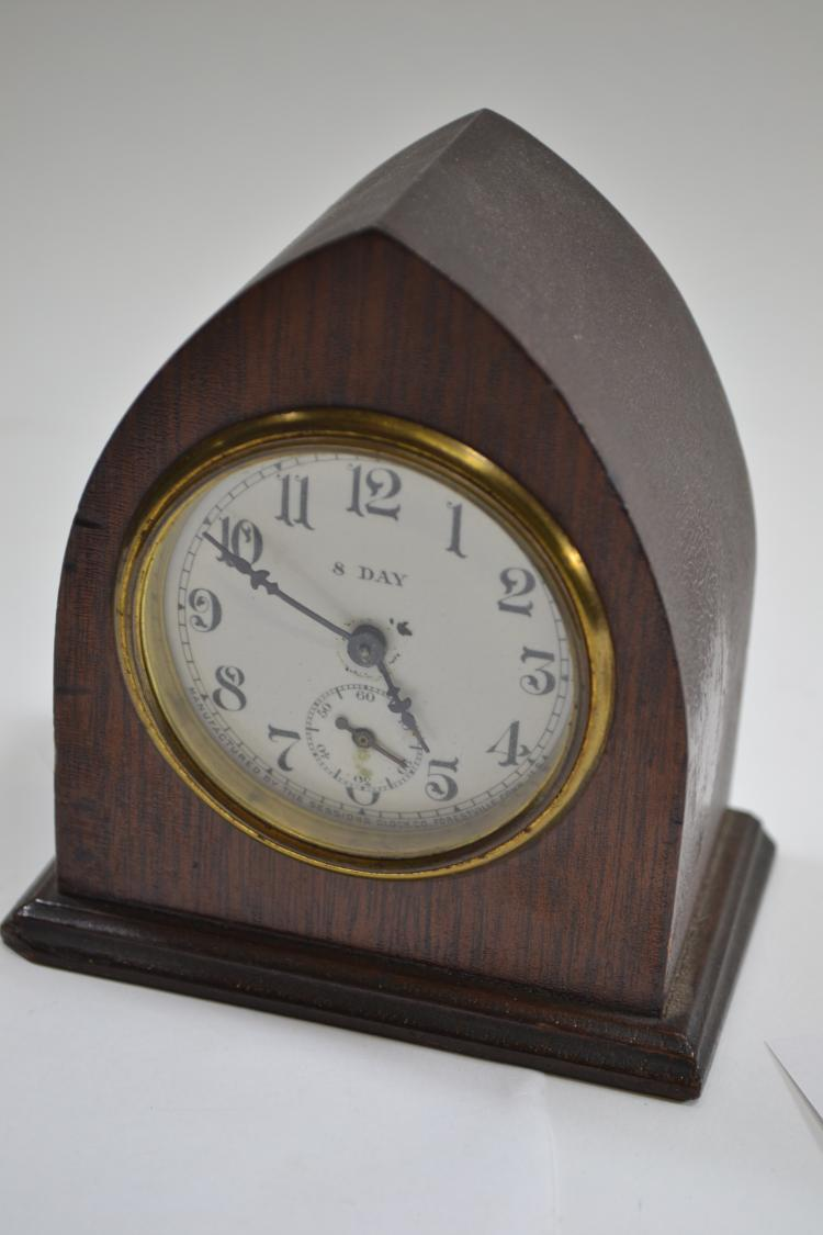 Antique Sessions Clock Company 8 Day Manual Wine Desk Clock