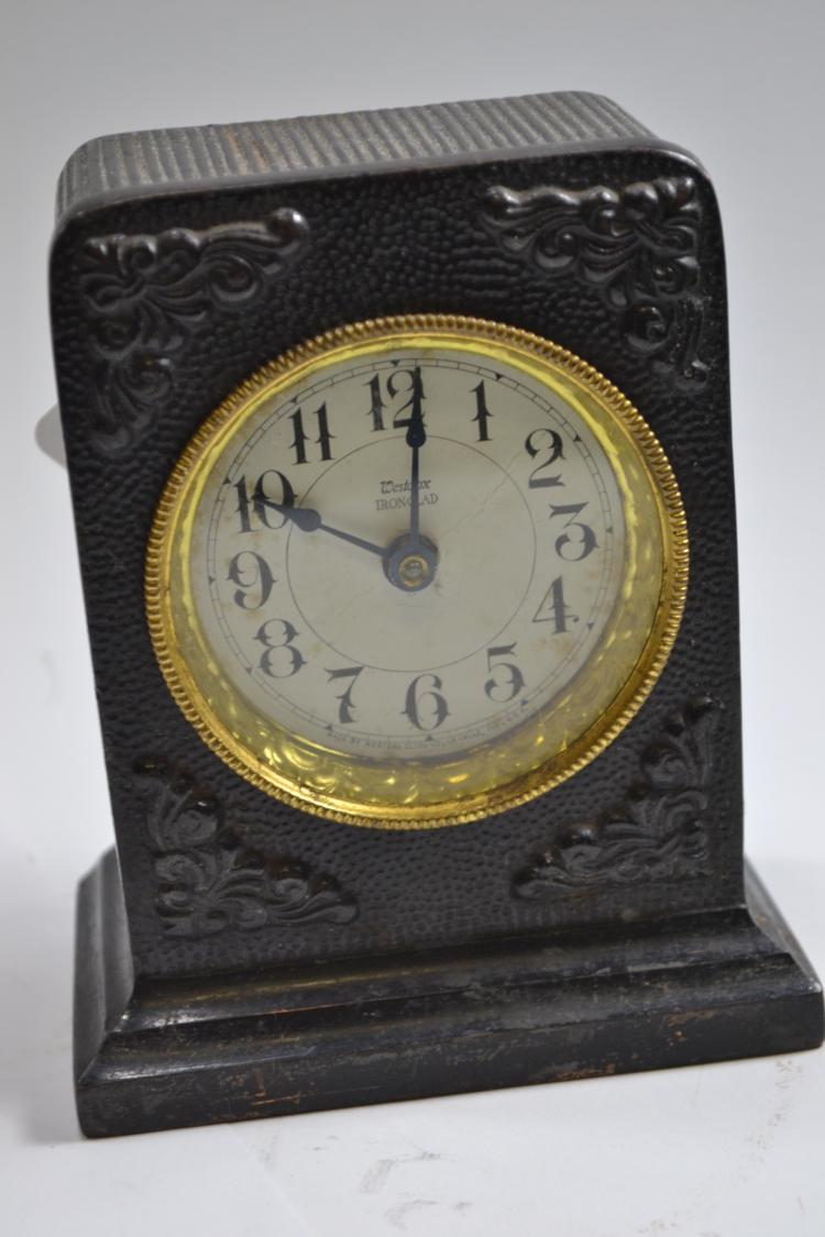 Antique 1917 Westclox Ironclad Desk Clock With Alarm
