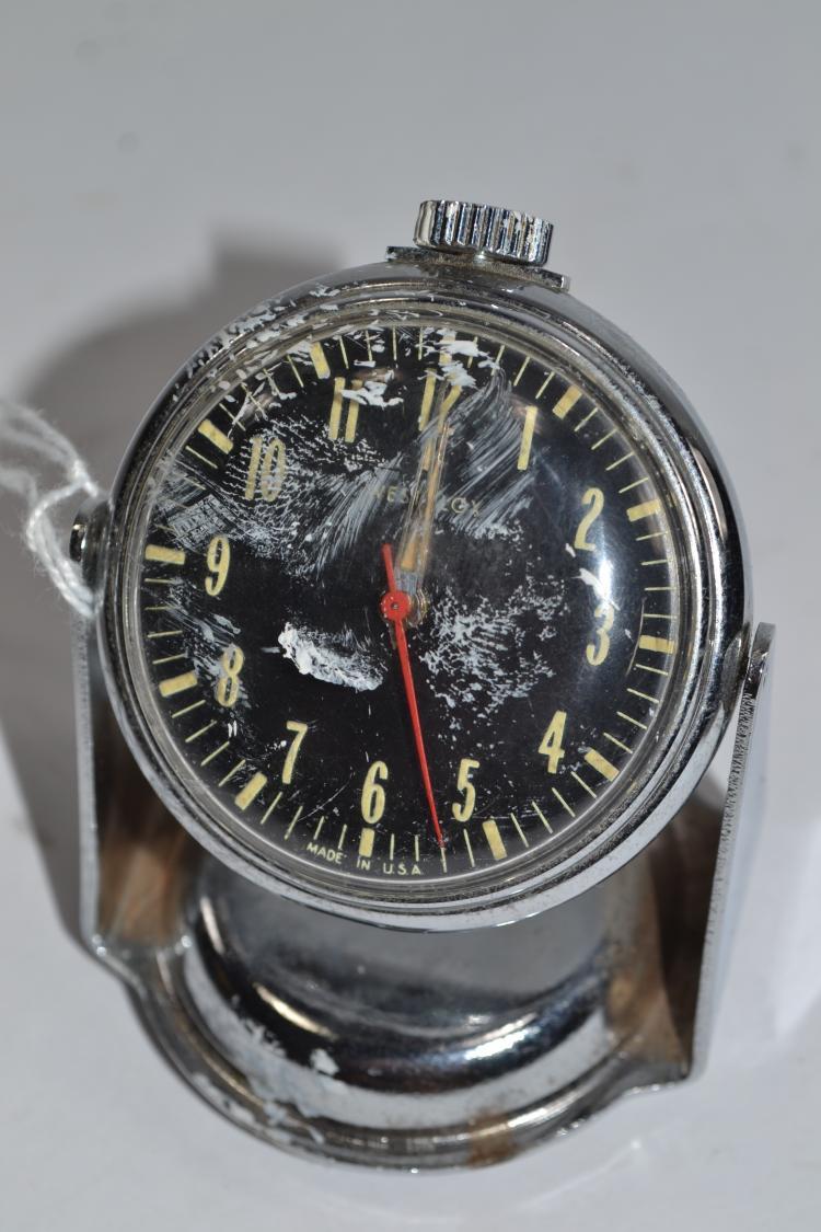 Vintage Westclox Pocket Watch Style Desk Clock