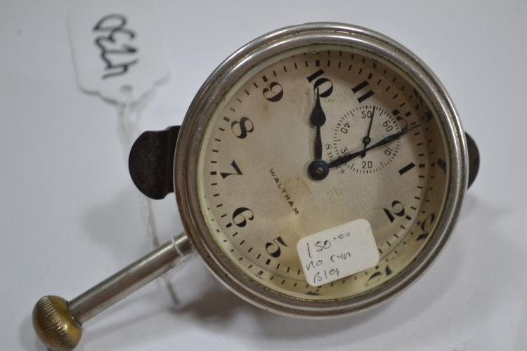 Antique Waltham 8-Day Manual Wind Automotive Clock
