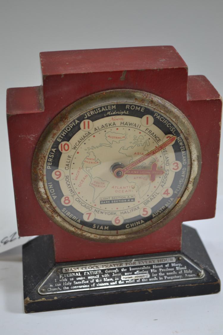 Antique Hourly Mass Prayer Clock