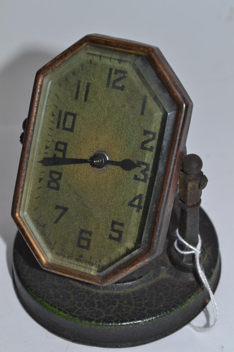 Antique Lux Clock Manufacturing Company Manual Wind Weighted Desk Clock