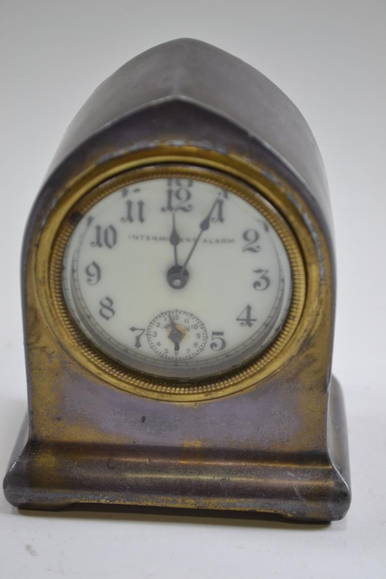 Antique Lux Clock Manufacturing Company Manual Wind Heartbeat Desk Clock