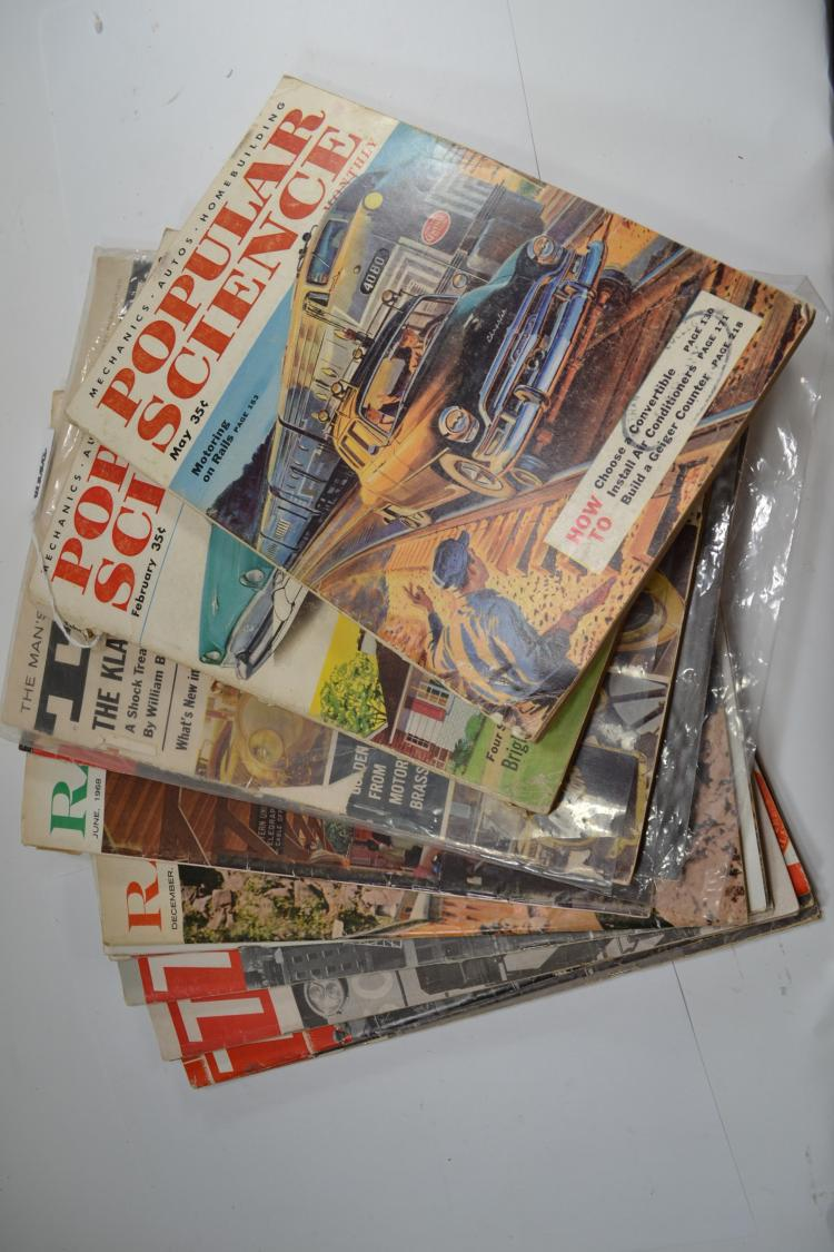 Lot Of 14 1950S And 60S Trains True And Popular Science Magazines