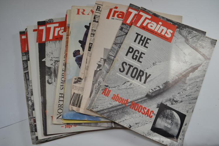 Lot Of 13 1960S Trains And Railroad Magazines