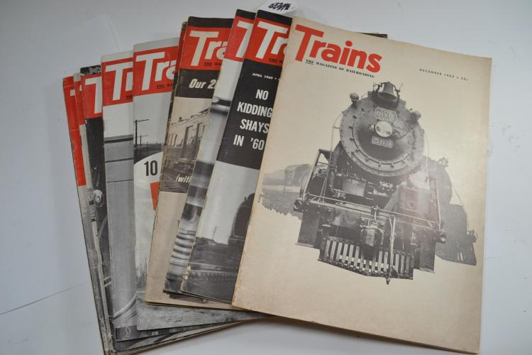 Lot Of 14 Vintage 1960S Trains Magazines