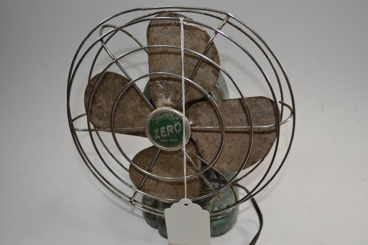 Vintage Zero Model 1250R Electric Desk Fan