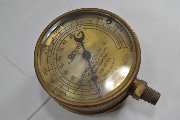 Antique Oxweld High Pressure Gas Gauge