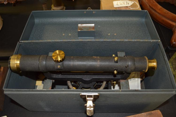 Antique Craftsman Brass Surveyors Scope In Craftsman Box